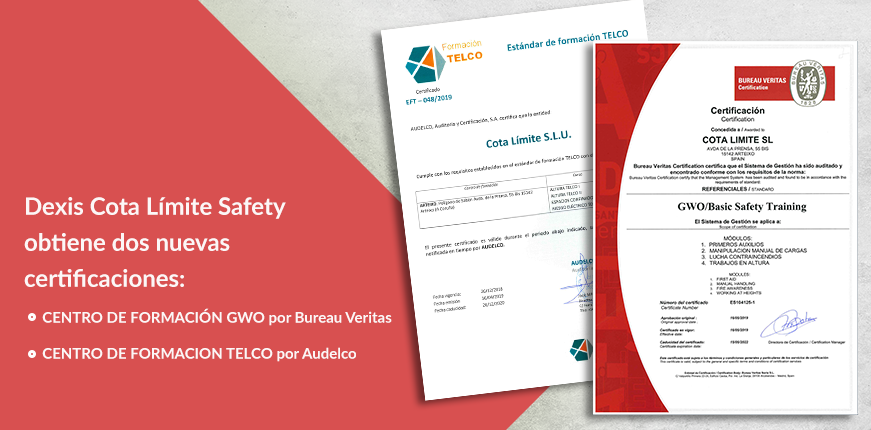 La división Dexis Cota Límite Safety obtiene dos nuevas